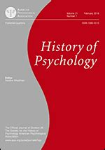 History of Psychology as a Scientific Discipline